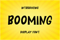 Illustration of font BOOMING