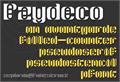 Illustration of font Pzydeco
