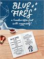 Illustration of font Blue Fires Sample