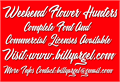 Illustration of font Weekend Flower Hunters Personal