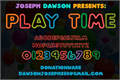 Illustration of font Play time