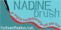 Illustration of font NADINE brush