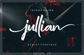 Illustration of font jullian Personal Use Only