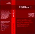 Illustration of font Akron NBP