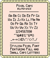 Illustration of font Pixel Caps