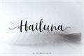 Illustration of font Hailluna