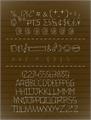 Illustration of font 24 boughs Regular