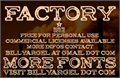 Illustration of font FACTORY