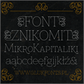 Illustration of font Znikomit