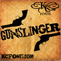 Illustration of font Gunslinger