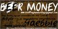 Illustration of font beer money
