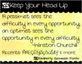 Illustration of font KG Keep Your Head Up