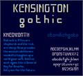 Illustration of font Kensington Gothic NBP