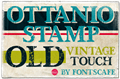 Illustration of font Ottanio Stamp DEMO
