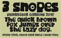 Illustration of font 3 Snopes