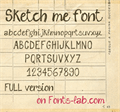 Illustration of font sketch me_FREE-version