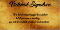 Illustration of font Pictorial Signature