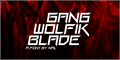 Illustration of font Gang Wolfik Blade