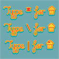 Illustration of font Cupcake Party Demo