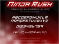 Illustration of font Ninja Rush
