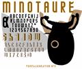 Illustration of font MINOTAURE