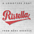 Illustration of font Ristella PERSONAL USE ONLY