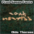 Illustration of font Ancient Thorass