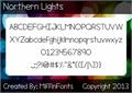 Illustration of font Northern Lights