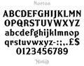 Illustration of font Norton
