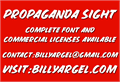 Illustration of font PROPAGANDA SIGHT PERSONAL USE