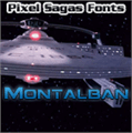 Illustration of font Montalban