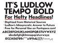 Illustration of font LudlowTempo