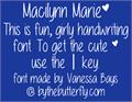 Illustration of font Macilynn Marie
