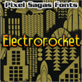 Illustration of font Electrorocket