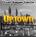 Illustration of font Uptown
