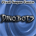 Illustration of font Dinobots
