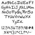 Illustration of font Ks Dont Blame Me