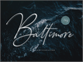 Illustration of font Baltimore Bold