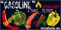 Illustration of font GASOLINE scratchy