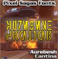 Illustration of font Aurebesh Cantina