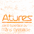 Illustration of font Atures 300 PERSONAL USE ONLY