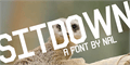 Illustration of font Sitdown