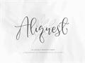 Illustration of font Aliquest