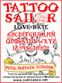 Illustration of font Tattoo Sailor
