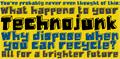 Illustration of font DK Technojunk