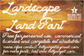 Illustration of font Landscape Land PERSONAL USE