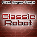 Illustration of font Classic Robot