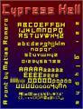 Illustration of font Cypress Hell