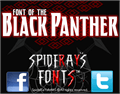 Illustration of font BLACK PANTHER
