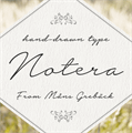 Illustration of font Notera 2 PERSONAL USE ONLY